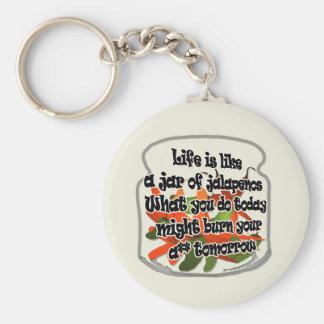 Life Is Like A Jar of Jalapenos... Keychain