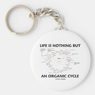 Life Is Nothing But An Organic Cycle (Krebs Cycle) Basic Round Button Key Ring