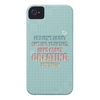 Life isn't about finding yourself Quote iPhone 4 Case-Mate Cases