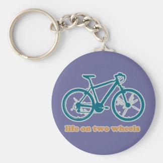 life on wheels - bikes basic round button key ring