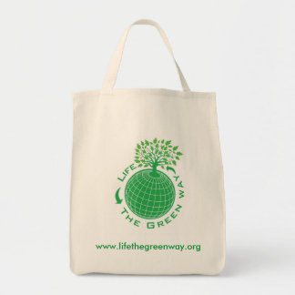 Life The Green Way Reusable Tote Grocery Tote Bag