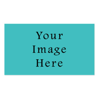 Light Aqua Blue Color Trend Blank Template Pack Of Standard Business Cards