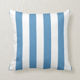 Light Blue and White Modern Striped Throw Pillow Cushion