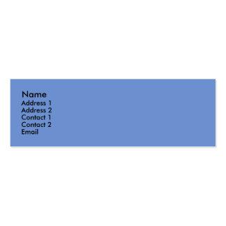 light blue color pack of skinny business cards
