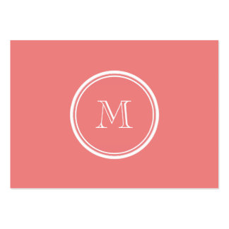 Light Coral High End Colored Monogram Pack Of Chubby Business Cards