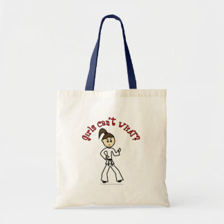 Light Karate Girl Budget Tote Bag