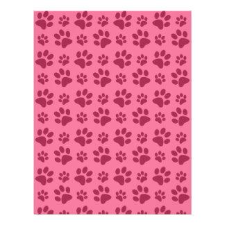 Light pink dog paw print pattern 21.5 cm x 28 cm flyer