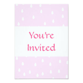 Light pink rain pattern. White and pink. 13 Cm X 18 Cm Invitation Card
