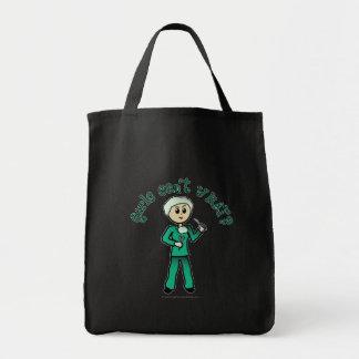 Light Surgeon Girl Grocery Tote Bag