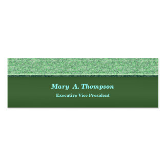 Light Turquoise Green Texture Pack Of Skinny Business Cards