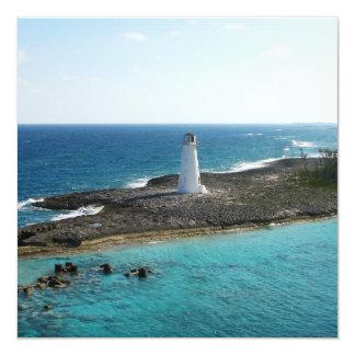 Lighthouse 13 Cm X 13 Cm Square Invitation Card