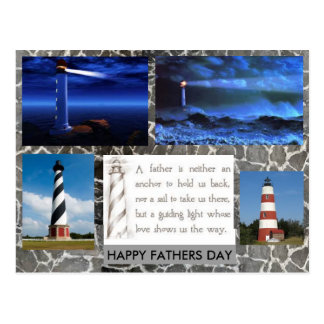 Lighthouse Fathers Day postcard