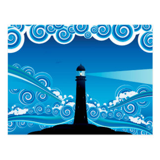 Lighthouse in the Sea 5 Postcard
