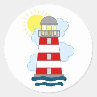 Lighthouse Round Sticker
