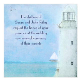 Lighthouse Vow Renewal Invite