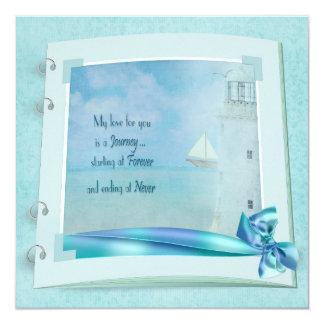 Lighthouse Wedding Book Invite
