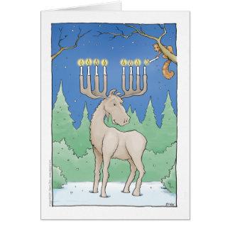 lighting the moosnorah greeting card
