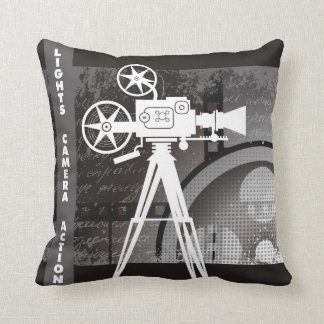 Lights, Camera, Action 16x16 Pillow Throw Cushion