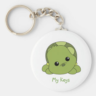 Lil Baby Turtle Basic Round Button Key Ring