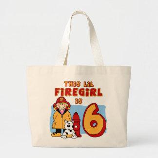 Lil Firegirl 6th Birthday Jumbo Tote Bag
