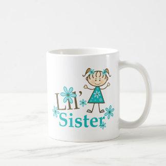Lil Sister Stick Figure Girl Basic White Mug