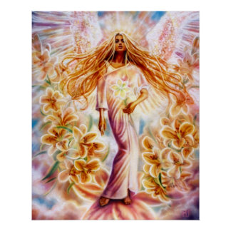 Lily Angel by Lisa Iris Poster