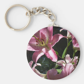 Lily Basic Round Button Key Ring