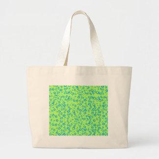 lime and blue cheetah jumbo tote bag