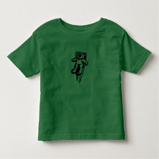 lime green little boy t-shirt with astronaut