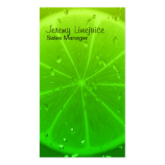 Lime juice pack of standard business cards