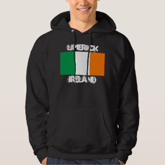 Limerick, Ireland with Irish flag Hooded Pullover
