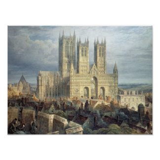Lincoln Cathedral from the North West, c.1850 Poster