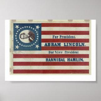 Lincoln For President 1860 Poster