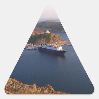 Lindos Ferry. Triangle Sticker