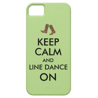 Line Dancing Gift Keep Calm Dancer Cowboy Boots iPhone 5 Cover