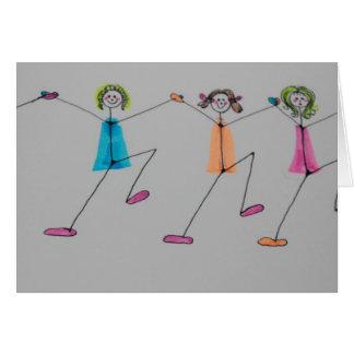 line dancing greeting card