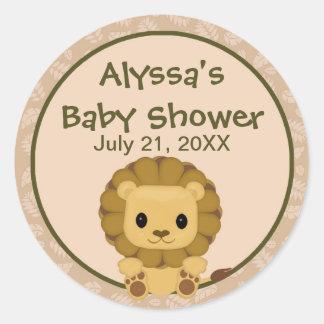 LION Baby Shower blank label/seal Nali NJL #04C Round Sticker