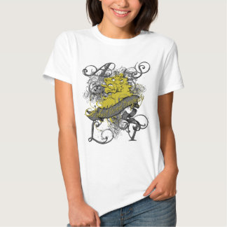 Lion Girl's Baby Doll on White T-shirts