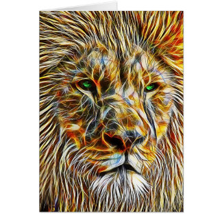 Lion Head Any Occasion Blank Greeting Card