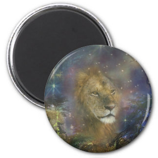 Lion King of Jungle Beasts 6 Cm Round Magnet