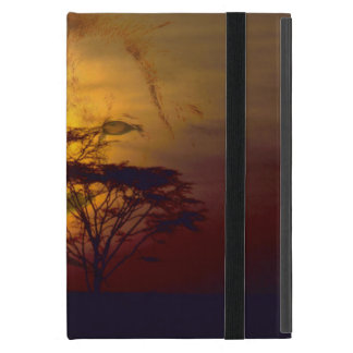 Lion Looking Over African Sunset iPad Mini Case