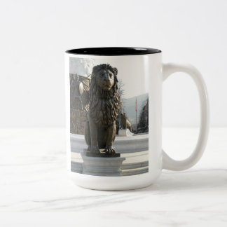 Lion Statue Two-Tone Mug