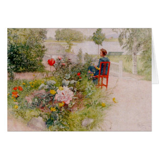 Lisbeth  in the Flower Garden Greeting Card