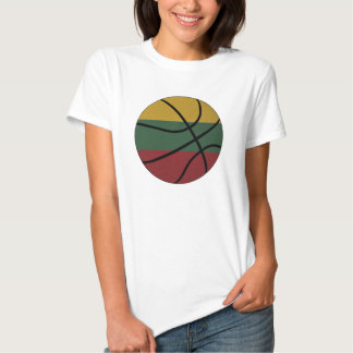 Lithuania Basketball Ladies Baby Doll T Shirts