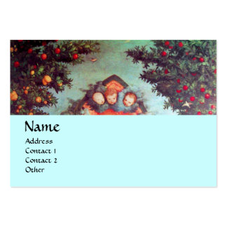 LITTLE ANGELS MONOGRAM antique blue red black Pack Of Chubby Business Cards