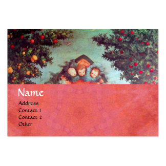 LITTLE ANGELS MONOGRAM antique blue red pink Pack Of Chubby Business Cards