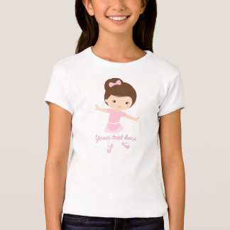 Little Ballerina with Pink Outfit Tshirt