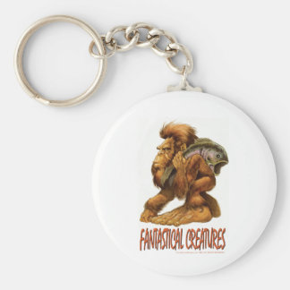 Little Big Foot Basic Round Button Key Ring