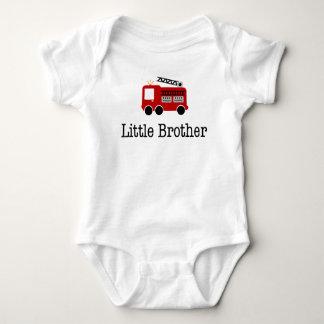 Little Brother Fire Truck Tshirt