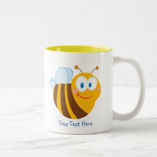 Little Bumblebee (personalized) Two-Tone Mug